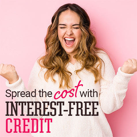 Spread the cost with interest-free credit