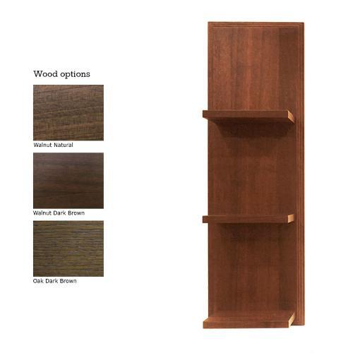 Wood veneer options for the Takara Belmont Dion Shelf