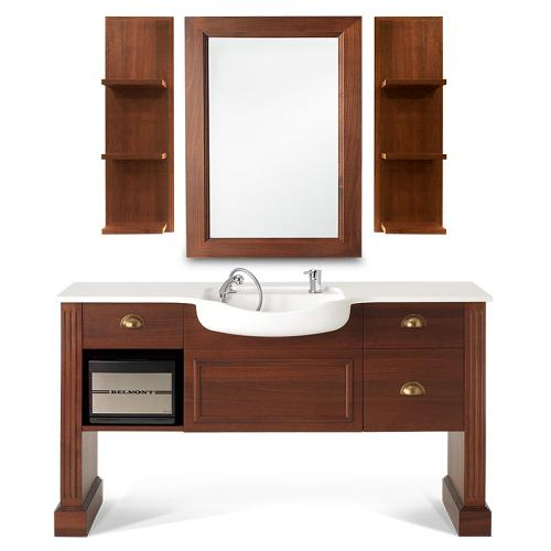 The Takara Belmont Dion Shelf is designed to match the Dion mirror and Dover barber unit