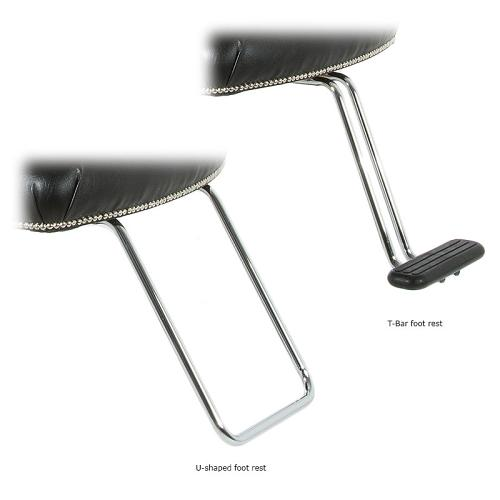 Foot rest options for the WBX Pompadour chair