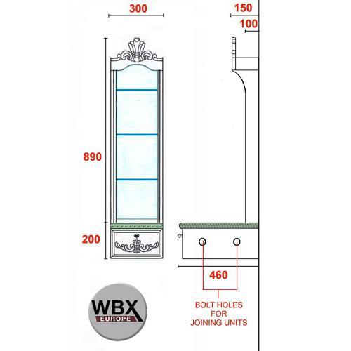 Dimensions for the WBX Barber Station link unit