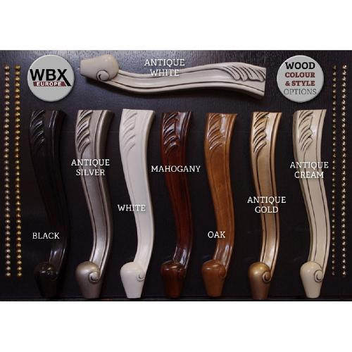 Wood colour options for the WBX Balmoral 2000 Backwash