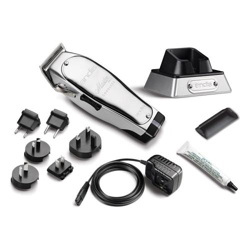 Andis Master Cordless hair clipper and accessories