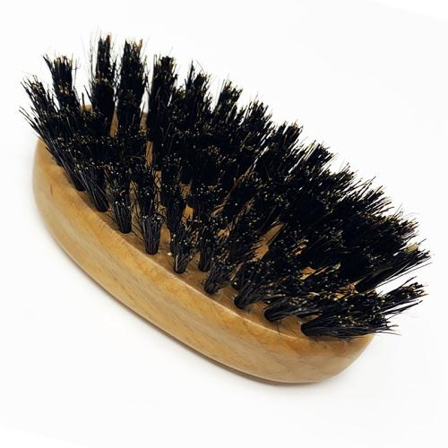 Boar and nylon bristles in the Kobe Palm Beard Brush
