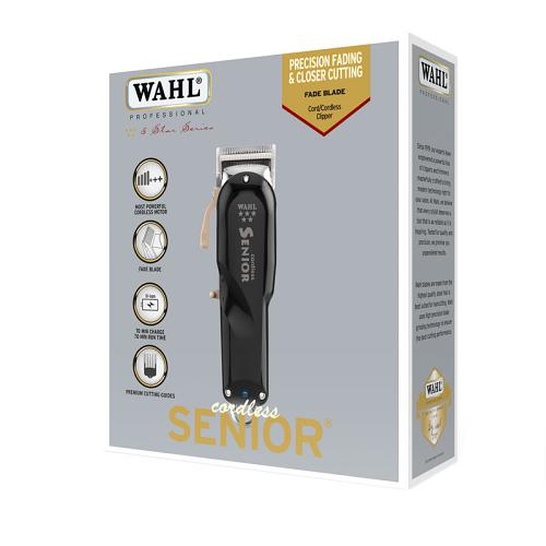 Packaging for the Wahl Cordless Senior clipper
