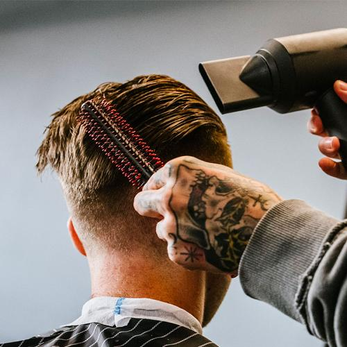 The Kobe Quiff Roller is great for styling men's hair.
