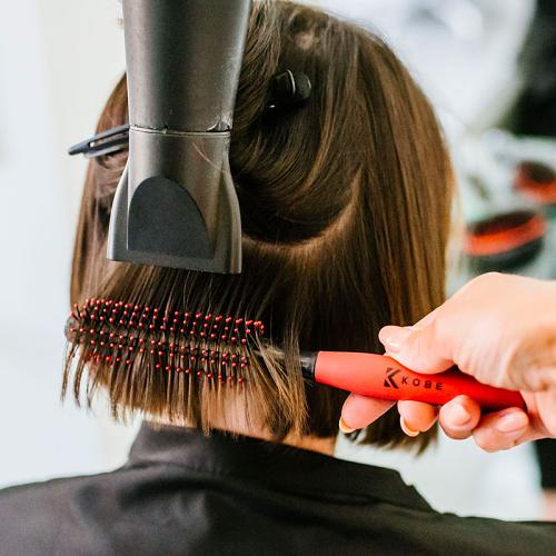 The Kobe Quiff Roller is ideal for blow drying short women's hair.