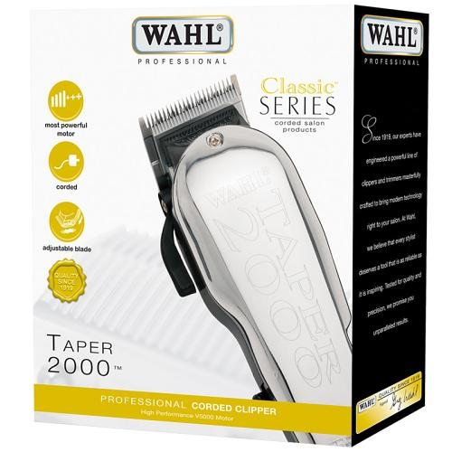 Packaging for the Wahl Taper 2000 hair clippers