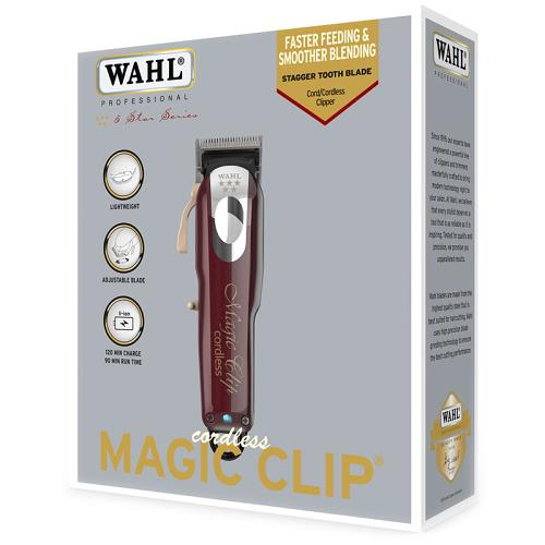 Packaging for the Wahl Cordless Magic Clip