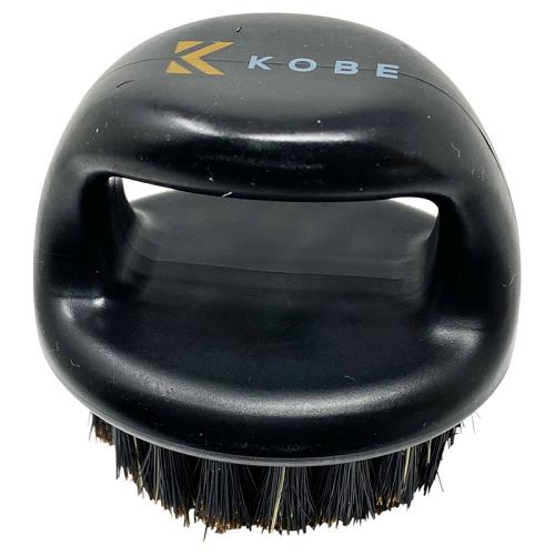 The Kobe Finger Beard Brush can be stood on its flat top when not in use