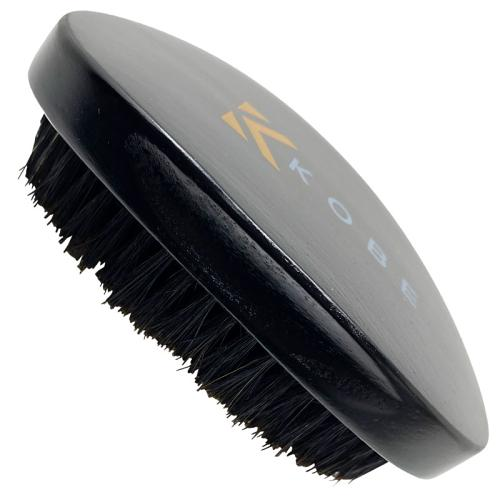 Side view of the Kobe Grant Military hair brush