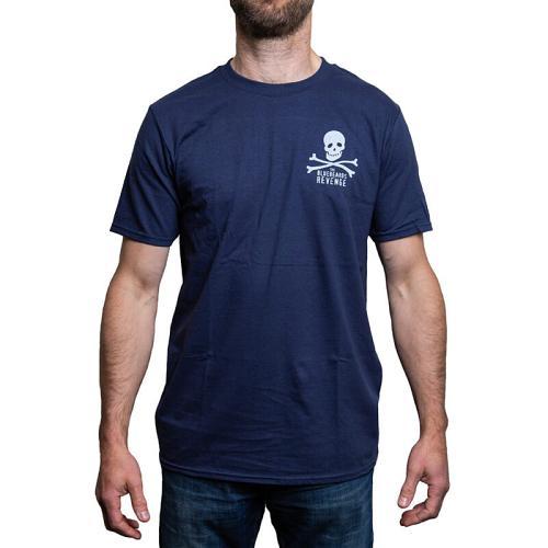 Blue t-shirt (front view).