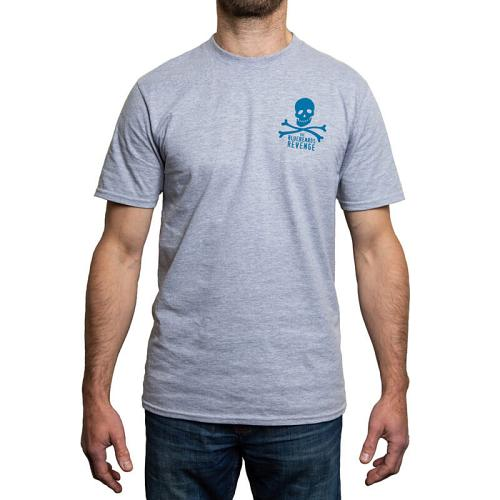 Grey t-shirt (front view).