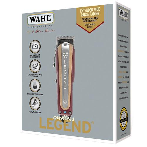 Packaging for the Wahl Cordless Legend hair clipper