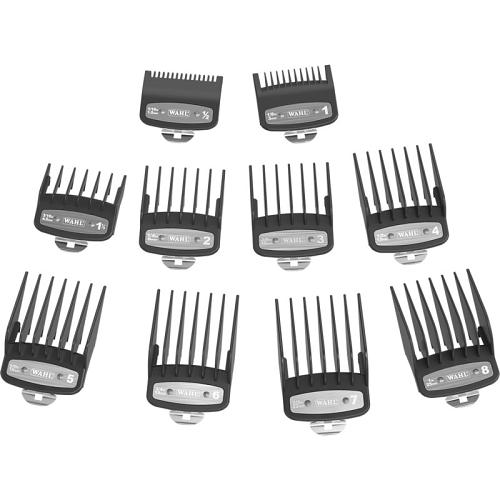 The 10 combs in the Wahl Premium Cutting Guides set