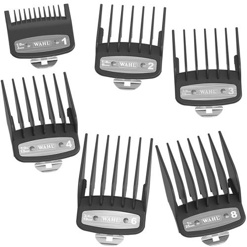 Premium clipper combs supplied with the Wahl ICON clipper.