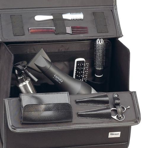 Interior of Sibel Pilotrol hairdressing equipment case.