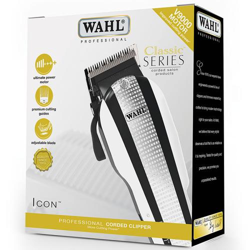 Packaging for the Wahl ICON hair clipper.