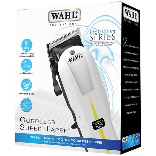 Packaging for the Wahl Cordless Super Taper