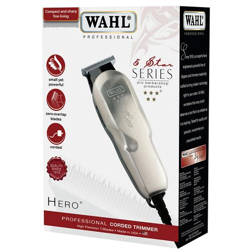Packaging for the Wahl 5-Star Hero trimmer