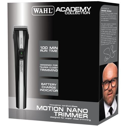 Packaging for the Wahl Academy Motion Nano Trimmer