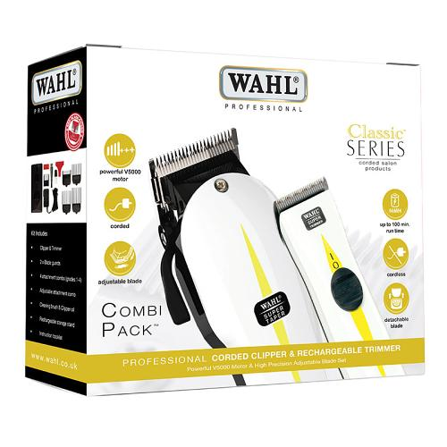 Packaging for the Wahl Super Taper/Trimmer Combi Pack