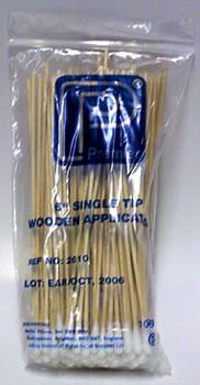 "Premier 6"" Single Tip Wooden Applicators (x 100)"