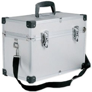 The EDGE Silver Beauty Case