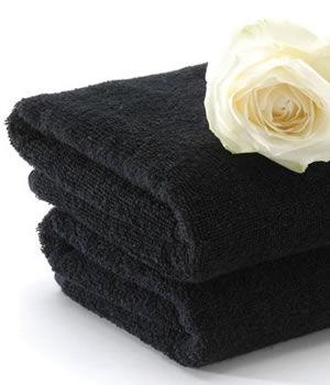 Majestic Majic Black Bleach-Resistant Towels (x12)