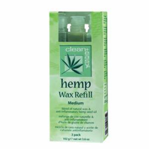 Clean and Easy Hemp Wax Medium Refill (x3)