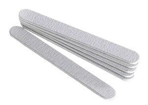 Star Nails Zebra Foam Straight Board (180 grit) - Pack of 6