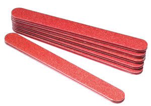 Star Nails Red Tiflon File (80 grit) - pack of 6