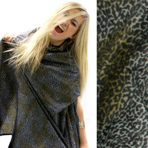 Hair Tools Animal Print Hairdressing Gowns