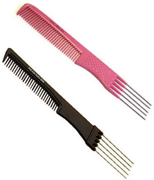 Head Jog 204 Metal Prong Comb (Black or Pink)
