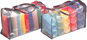 Cling Hair Rollers Set in Carry Bag