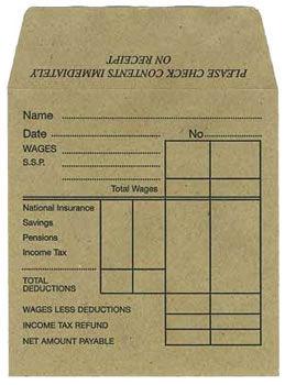 Salon Wages Envelopes