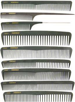 Fortress Carbon Fibre Combs: Set of 9