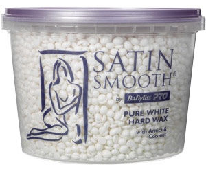 Satin Smooth Pure White Hard Wax with Arnica & Coconut