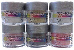 The EDGE Nails Coloured Glitter Acrylic Powder