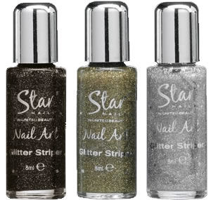 Star Nails Nail Art Glitter Striper