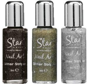 Star Nails Nail Art Glitter Striper
