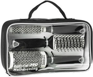 BaByliss Pro 3-Piece Ceramic Brush Set