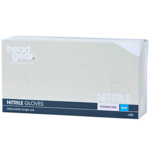Head-Gear Disposable Powder-Free Blue Nitrile Gloves
