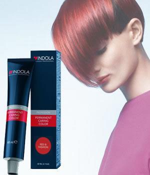 Indola Profession Permanent Caring Colour - Red & Fashion
