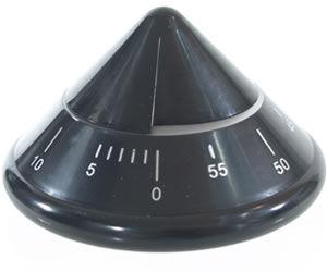 Head-Gear Black Conical Timer