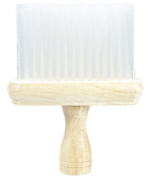 Head-Gear Wooden Neck Brush