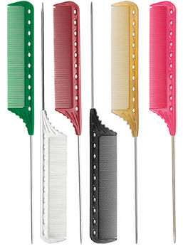 YS Park 112 Fine-Toothed Metal Tail Comb (220 mm)