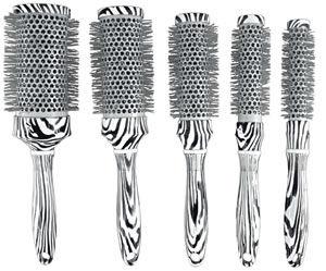 Crewe Orlando Ceramic Zebra Brushes