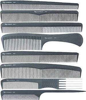 Head-Gear Carbon Combs: Set of 8