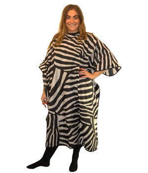 CoolBlades Zebra Hairdressing Gown